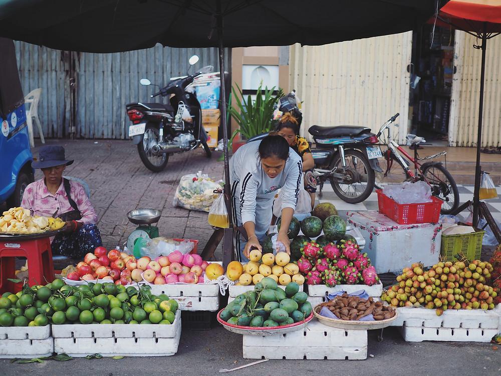 柬埔寨的路边摊