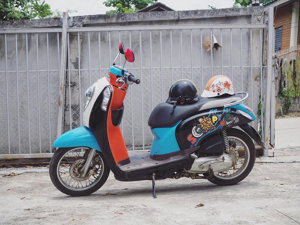 拜县摩托车租借