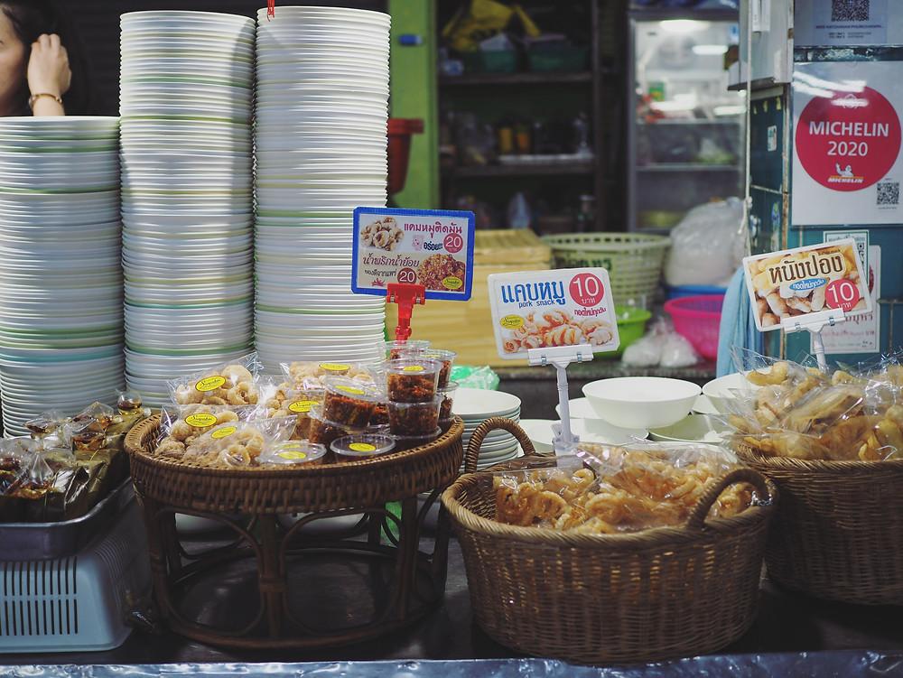 售卖零食的摊位