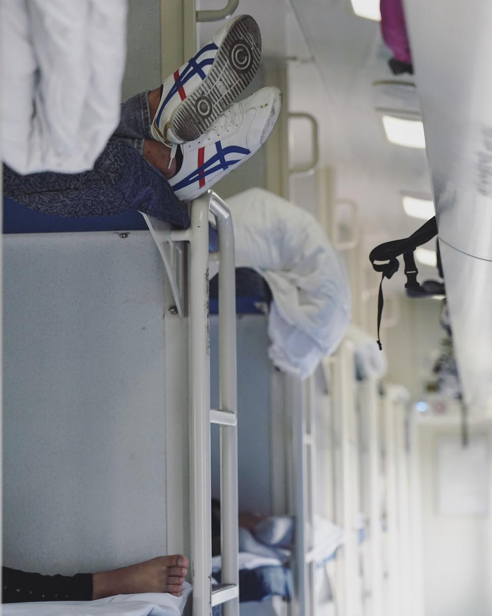 中国火车硬卧车厢