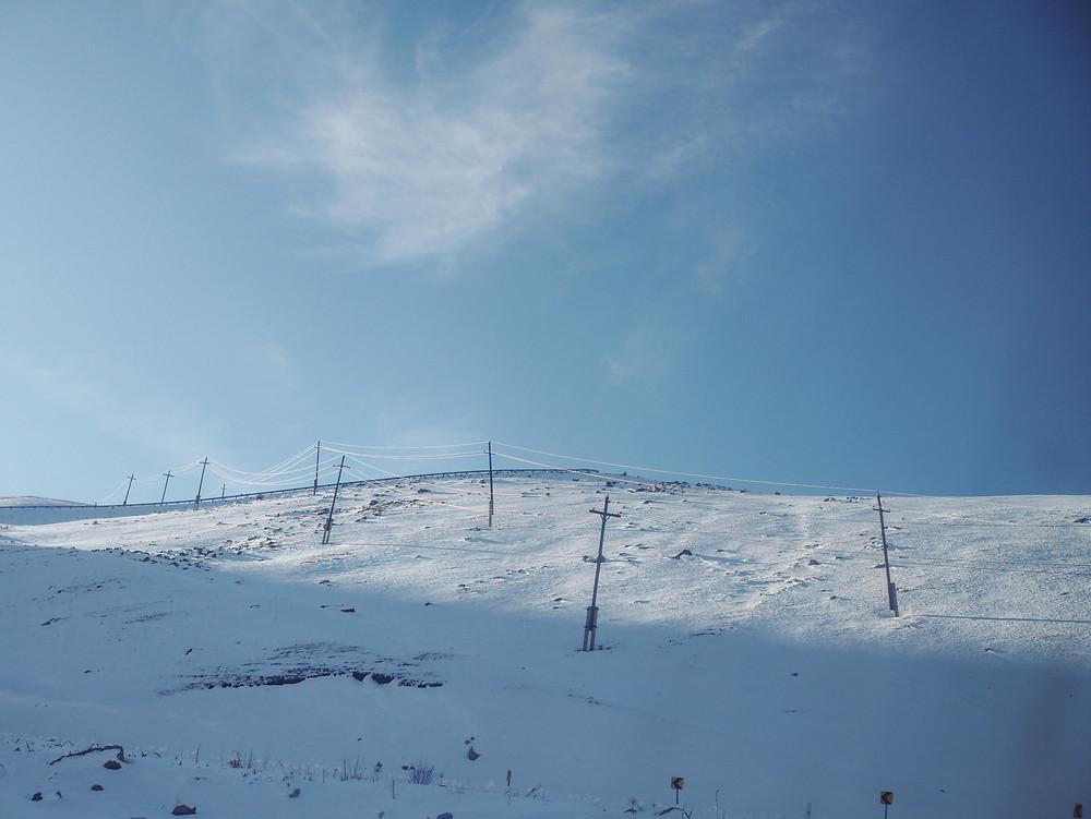 铺天盖地的白雪。