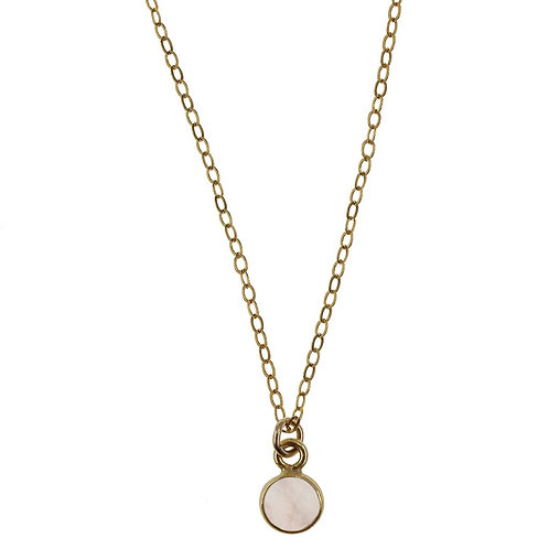 Charmed in Love Mini Gold Necklace
