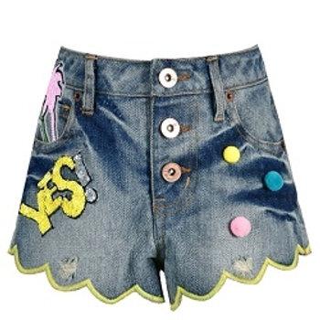 Hannah Banana - Sequin Patch Shorts