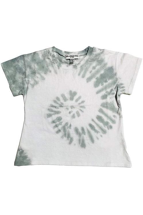 Sub_Urban Riot - Spiral Cloud Tie Dye Crop