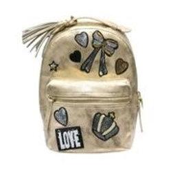 Hannah Banana - Gold Metallic Backpack