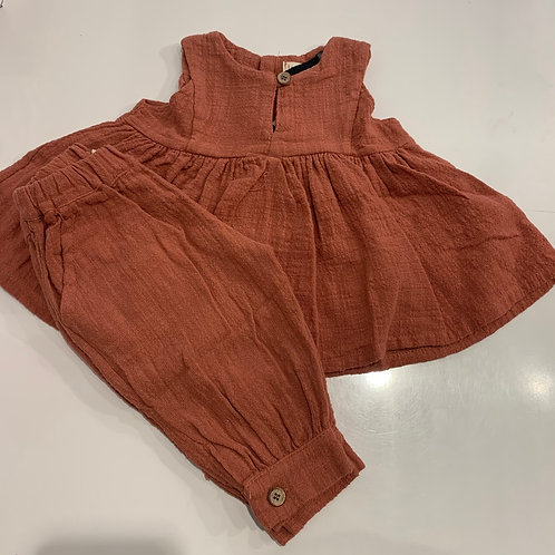 1+ In The Family - 2pc Rust Tank/Pant Set
