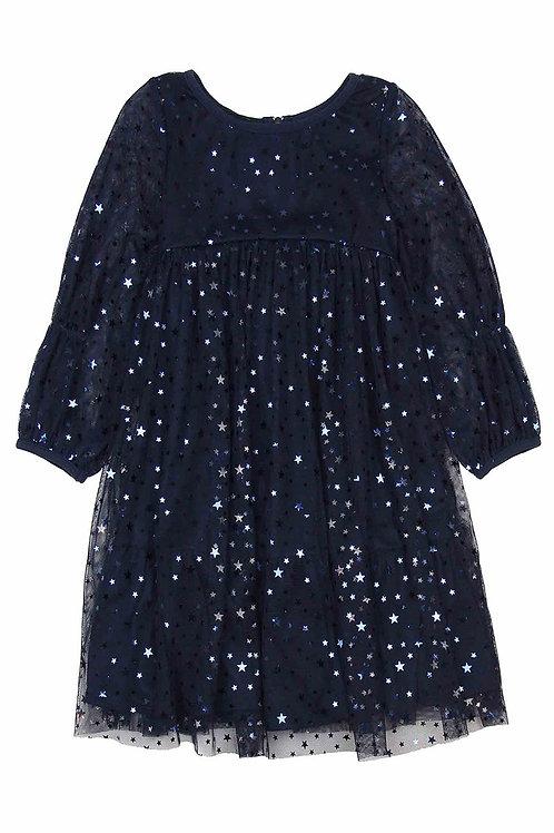 Biscotti - Navy Star Dress