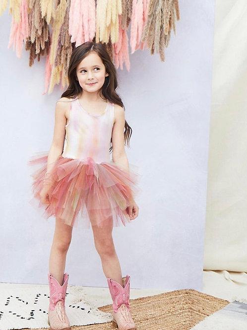 Plum - Watercolor TUTU Dress