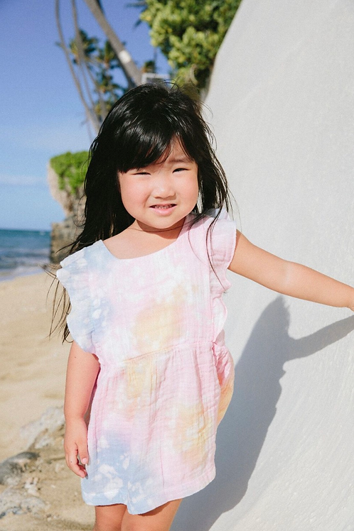 Kira - Tie Dye Dress with Bloomer