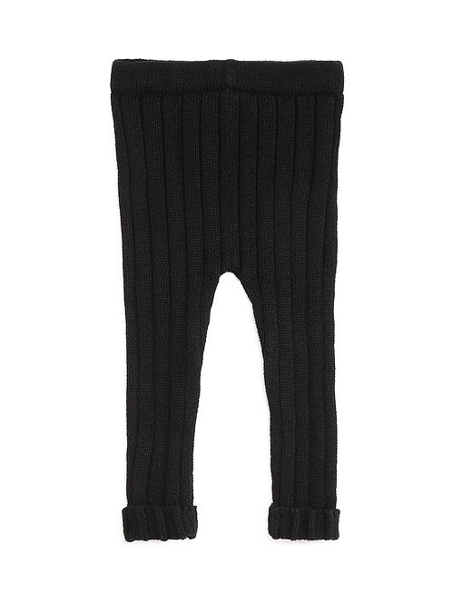 Tun Tun - Black Ribbed Pull On Pants