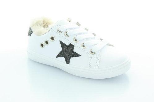 Hoo Shoes - Star Fur Lace Sneaker