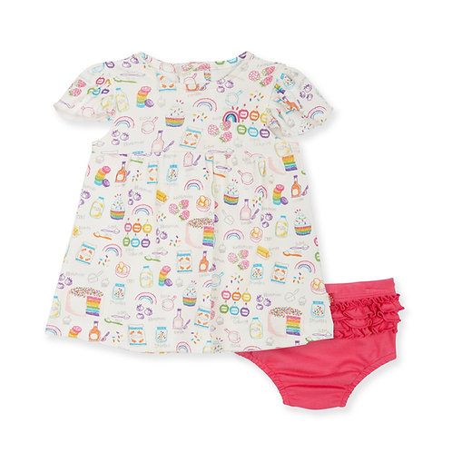 Magnetic Me - Rainbow Sprinkles Dress w/ Diaper Cover