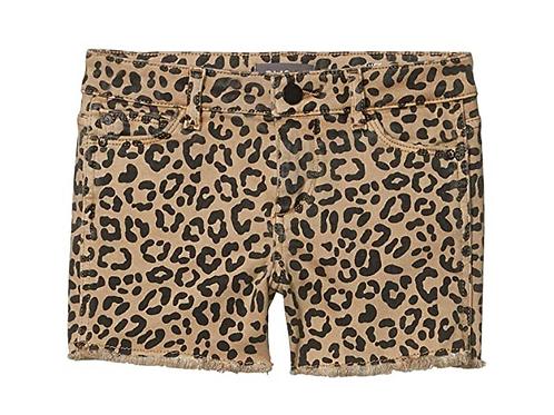 DL1961 - Leopard Cutoff Shorts