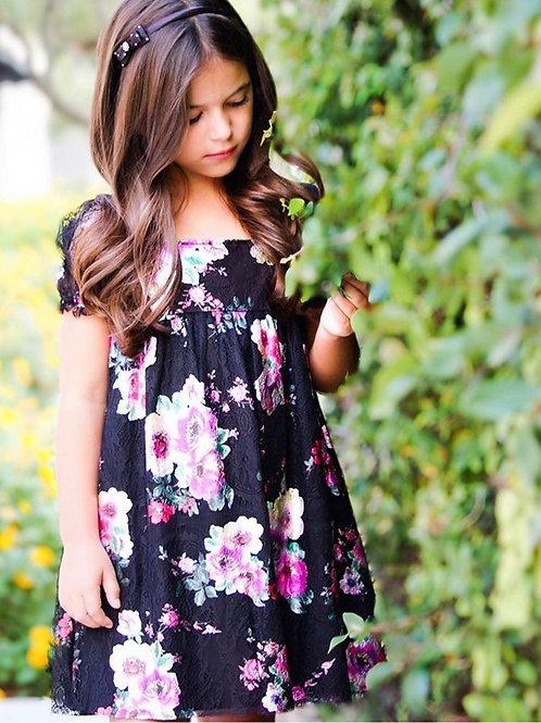 Lil Lemons - Black Lace Party Dress