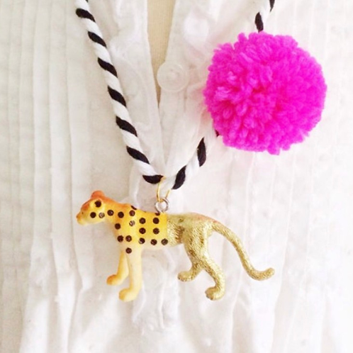 Trendy Tot - Cheetah Painted Necklace