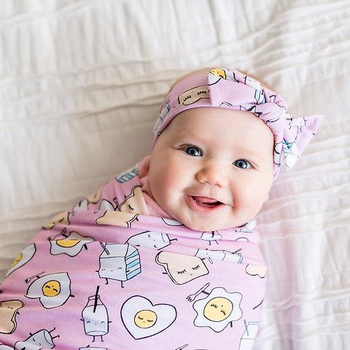 Little Sleepies - Swaddle Sets Breakfast Pink