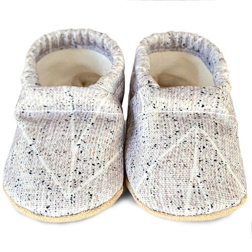 Clamfeet - Wesley Grey Speckled Soft Soled Shoes