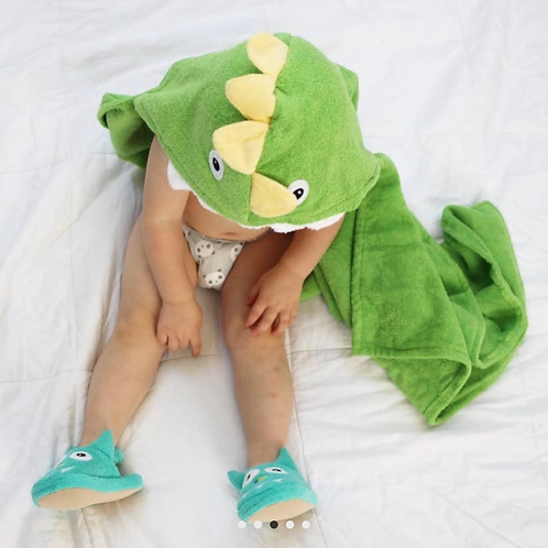 Yikes Twins - Dinosaur Hooded Towel