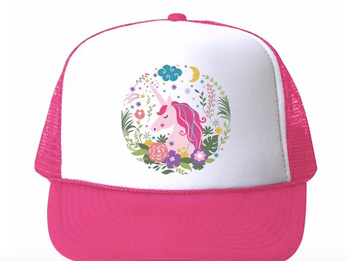 Bubu - Unicorn Floral Trucker Hat