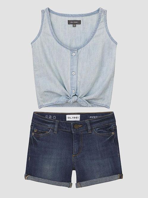 DL1961 - Tie Top & Jean Short Set
