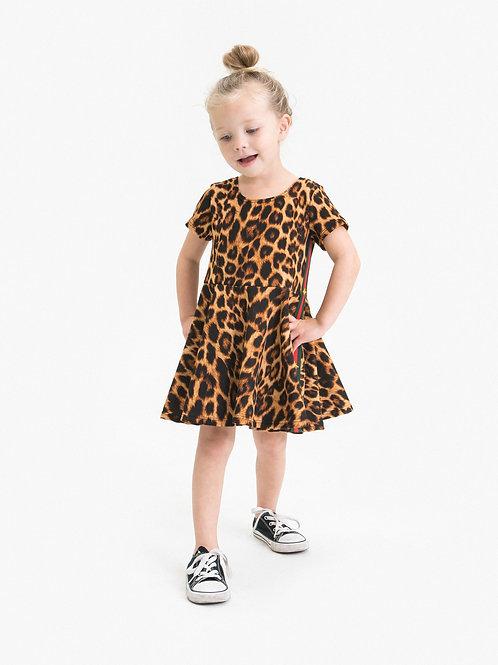 Little Mass - Leopard Skater Dress