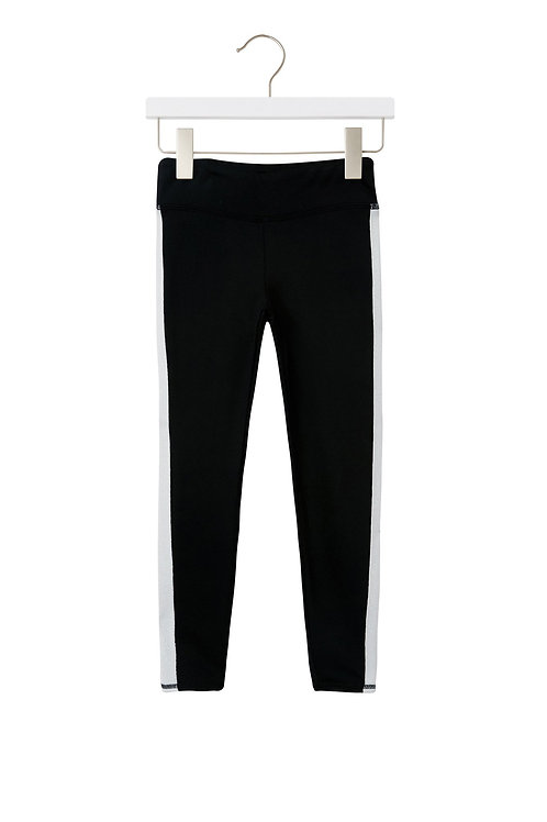 Spiritual Gangster - Black w/white stripe leggings