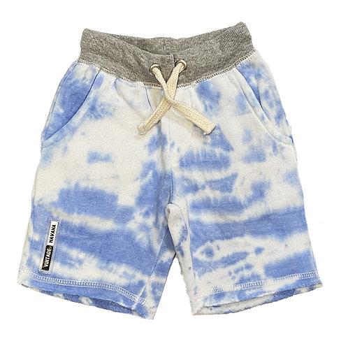 Vintage  Havana - Light Blue Tie Dye Shorts