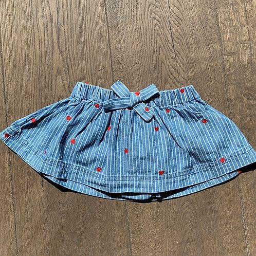 Blu and Blue - Heart Jean Skirt