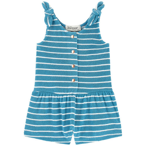Jean Bourget - Blue/White Striped Playsuit