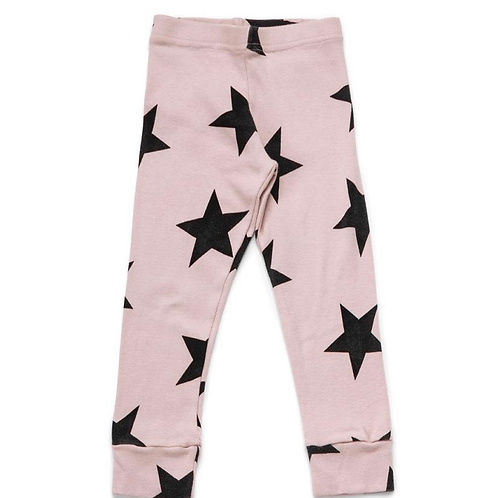 Nununu - Pink/Black Star Baby Leggings