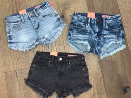 Blank NYC -Light/Dark/Black Cutoff Shorts