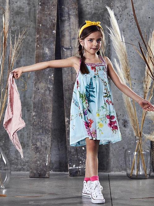 Ujala - Aqua Floral Beaded Dress
