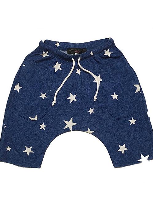 Jagged Culture - Royal Blue w/Stars Baggy Rocker Shorts