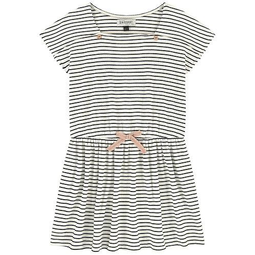 Jean Bourget - Marine Striped Dress w/Bow