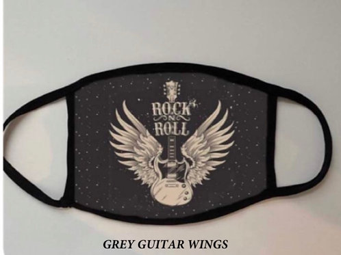 Rock n Roll Guitar/ Wings Face Mask