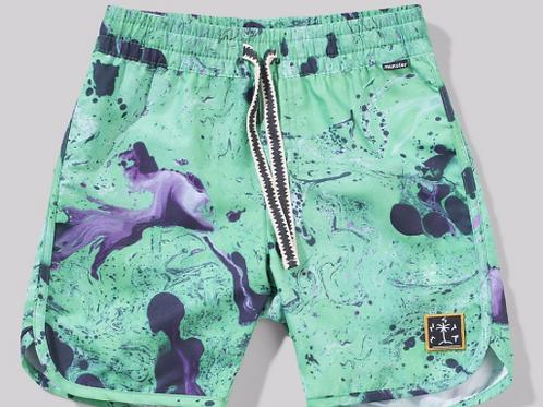 Munster - Green Splatter Board Shorts