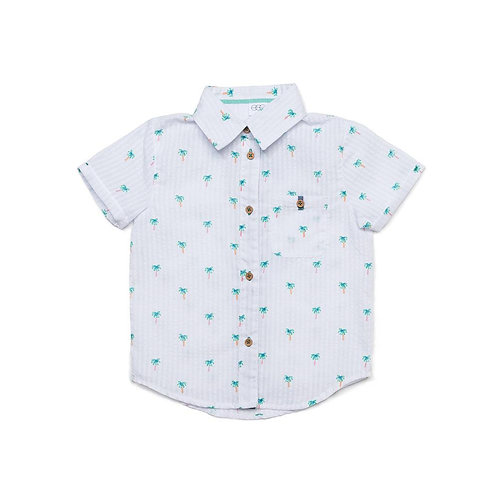Egg - Palm Print Button Down Shirt