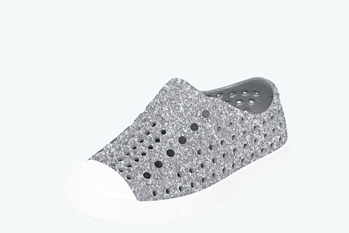 Native - Silver Bling Jefferson Child Shoes