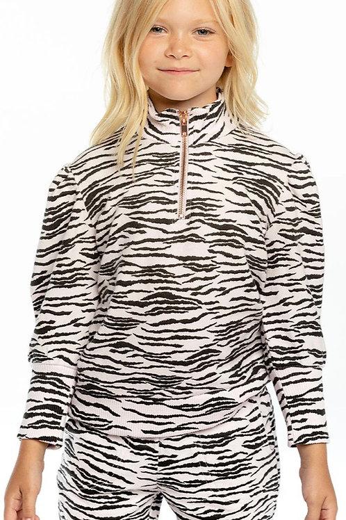 Chaser - Pink Zebra Half Zip