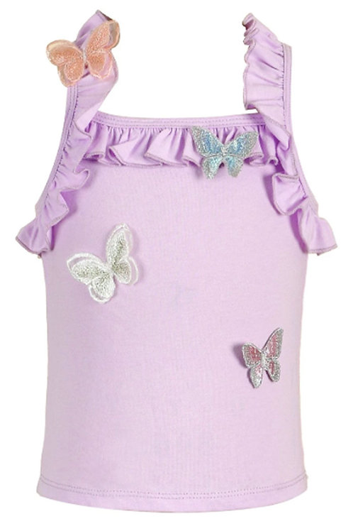 BabySara - Lavender Butterfly Tank