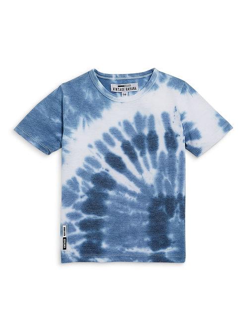 Vintage Havana - Light Blue Tie Dye T-Shirt
