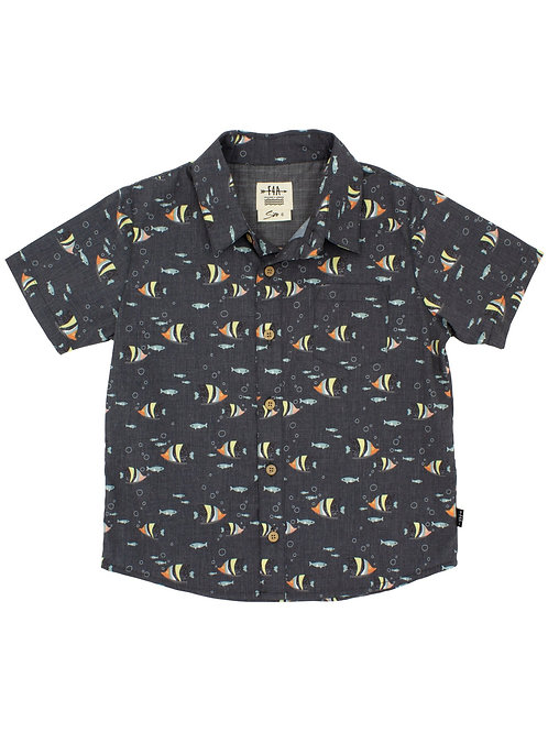 Feather 4 Arrow - Outter Reef Button Up