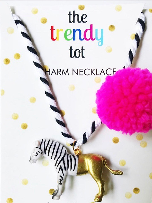 Trendy Tot - Zebra Painted Necklace