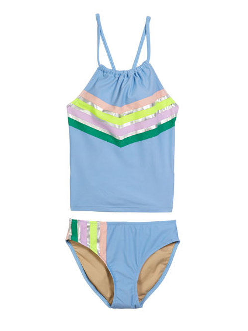 Shadecritters - 2Pc Blue Metallic Tankini