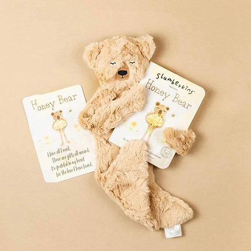 Slumberkins - Honeybear Snuggler Set