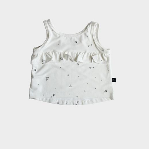 BabySprouts - Ruffle Triangles Tank