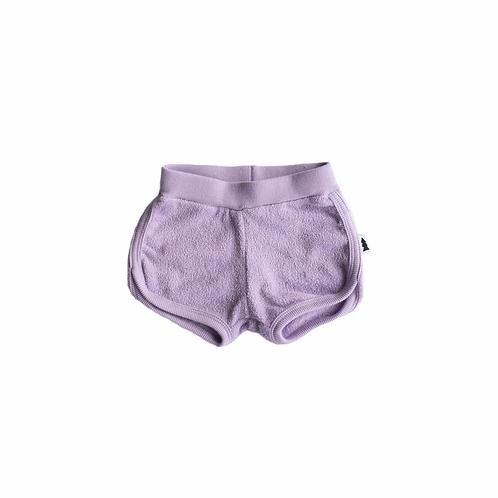 North Kinder - Grape Terry Shorts