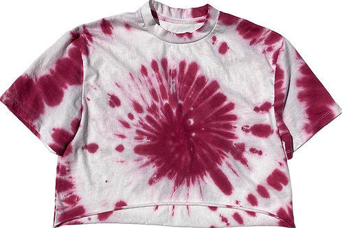 Rowdy Sprout - Pink Tie Dye Crop