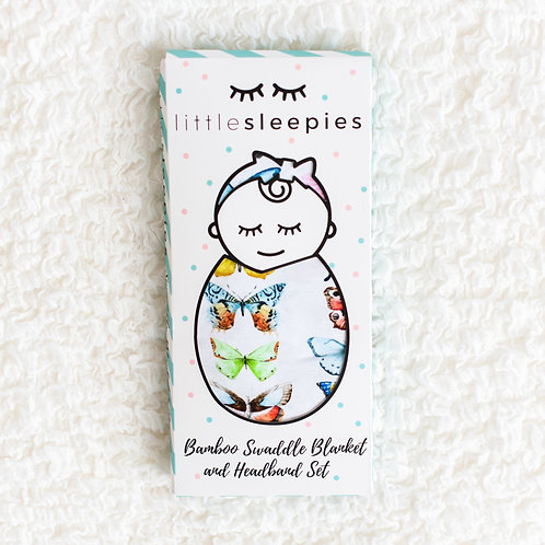 Little Sleepies - Swaddle Set Butterfly