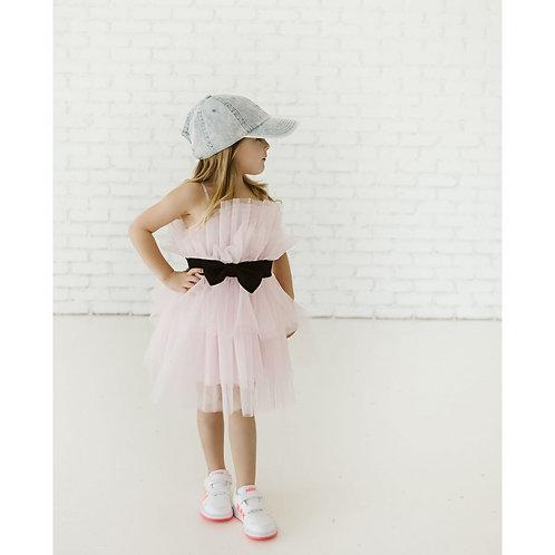 Petite Hailey - Pink Tutu Dress With Belt